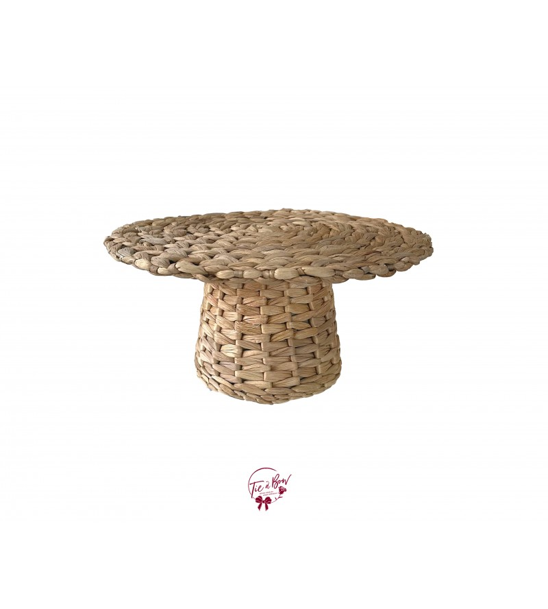 "Hyacinth Cake Stand: 12""W x 5.5""H"
