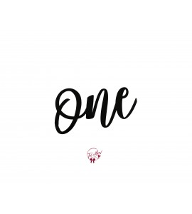 Word: One (Black)